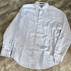 Men's Button Down Shirt Stripe Medium